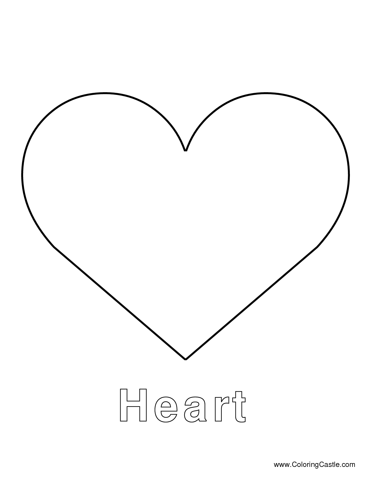 4 Images of Printable Heart Shape Template