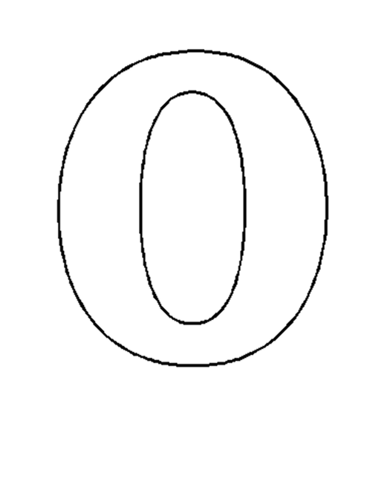 6 Images of Extra Large Printable Numbers 0