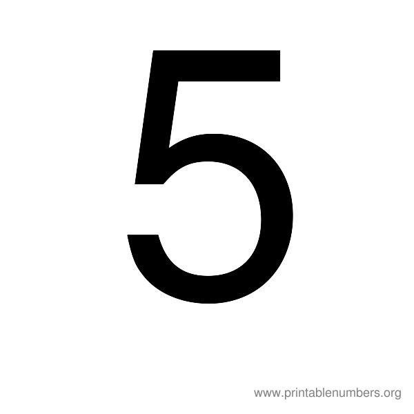 7 Images of Large Printable Numbers 5