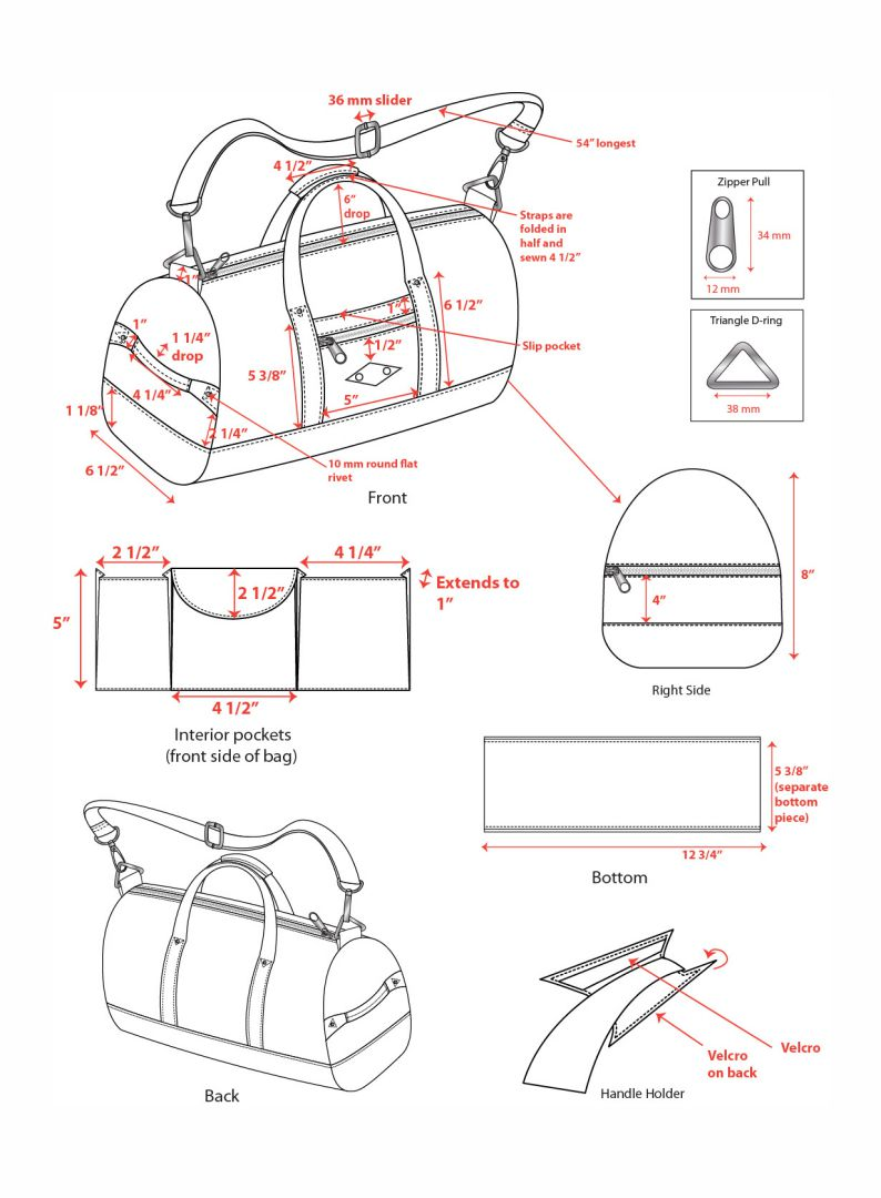 Best Images of Leather Handbag Patterns Printable - Free Leather ...