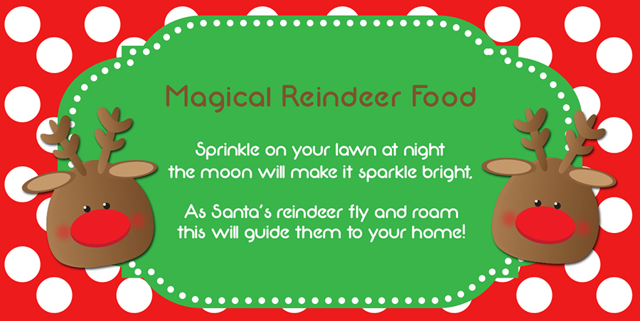 6 Images of Printable Reindeer Food Saying