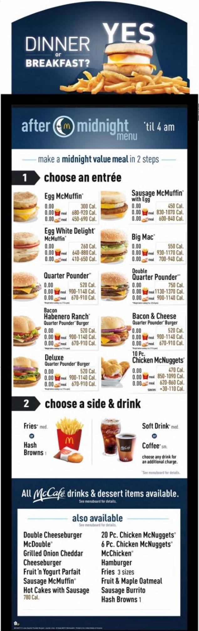 Mcdonalds Prices Menu