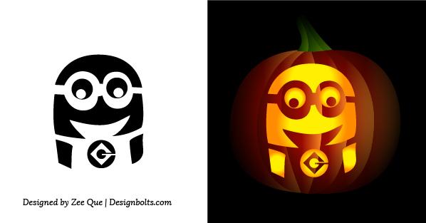 7 Images of Minion Pumpkin Stencil Printable Free