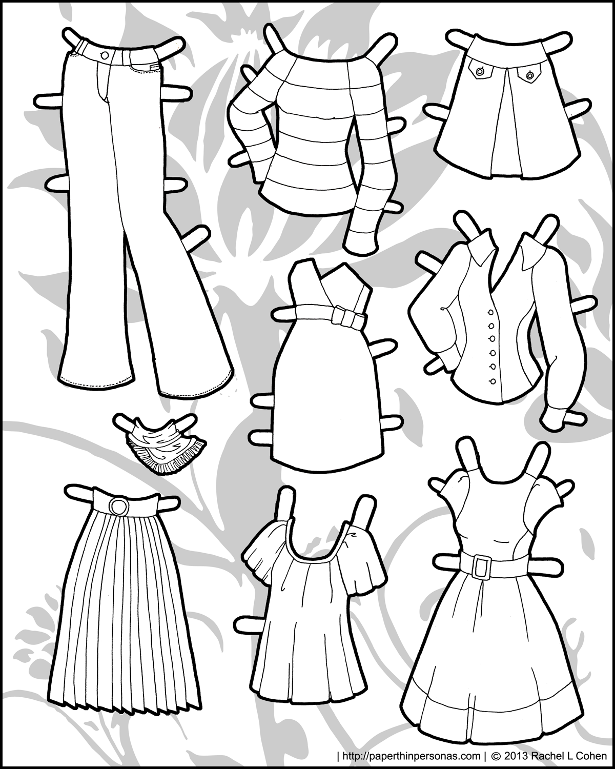 6 Images of Printable Doll Clothes