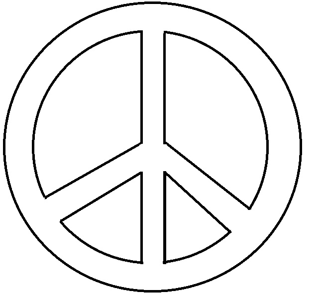 8 best images of peace sign template free printable for Peace sign coloring pages to print