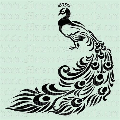 8 Images of Peacock Stencil Printable