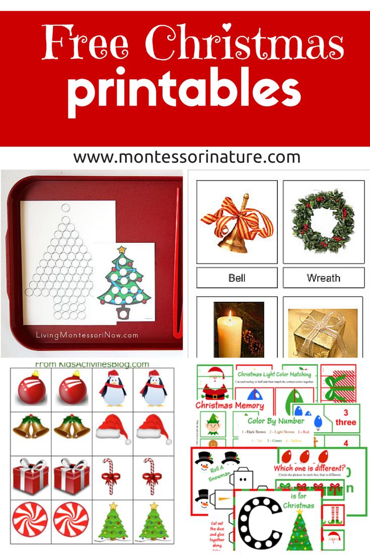 4 Images of Montessori Christmas Printable