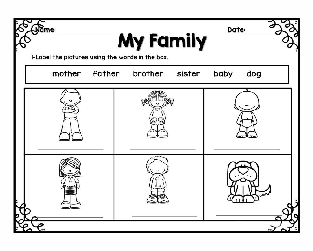 Preschool Family Printables