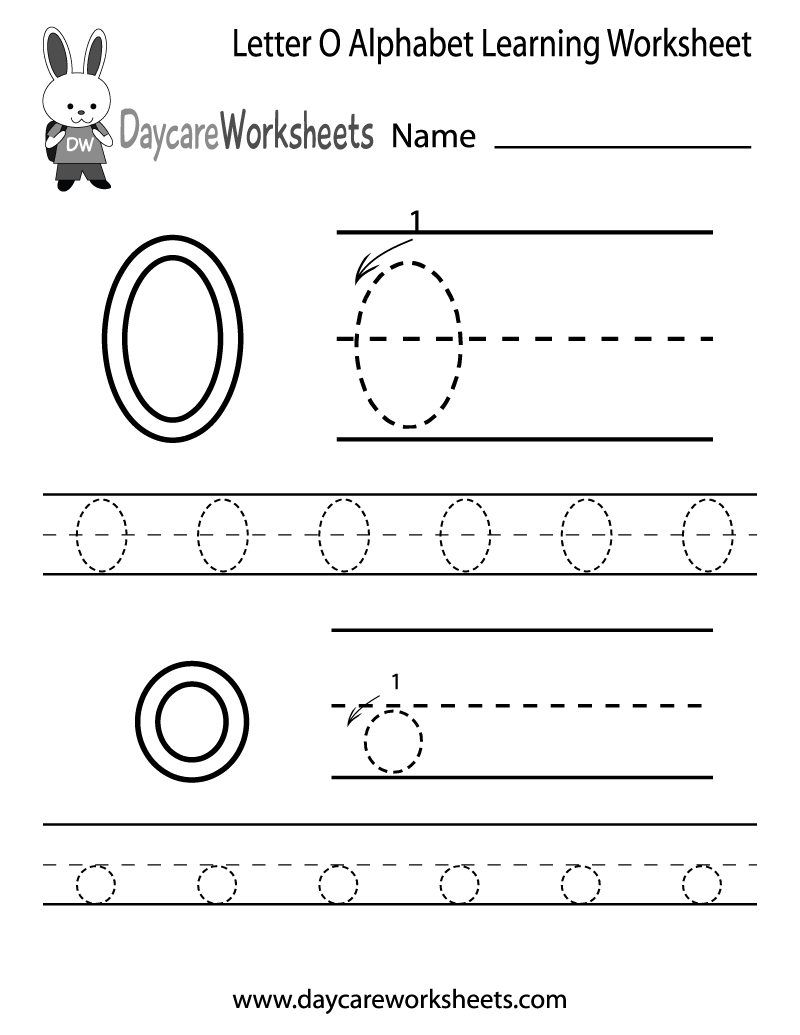 6 Images of Letter O Worksheets Printable