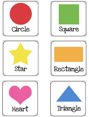 6 Images of Kindergarten Shapes Flash Cards Printable