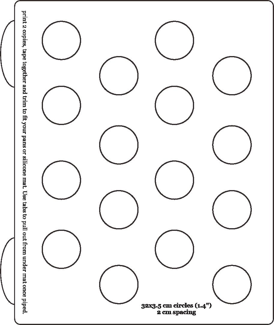 Printable 1 Inch Macaron Template Circle
