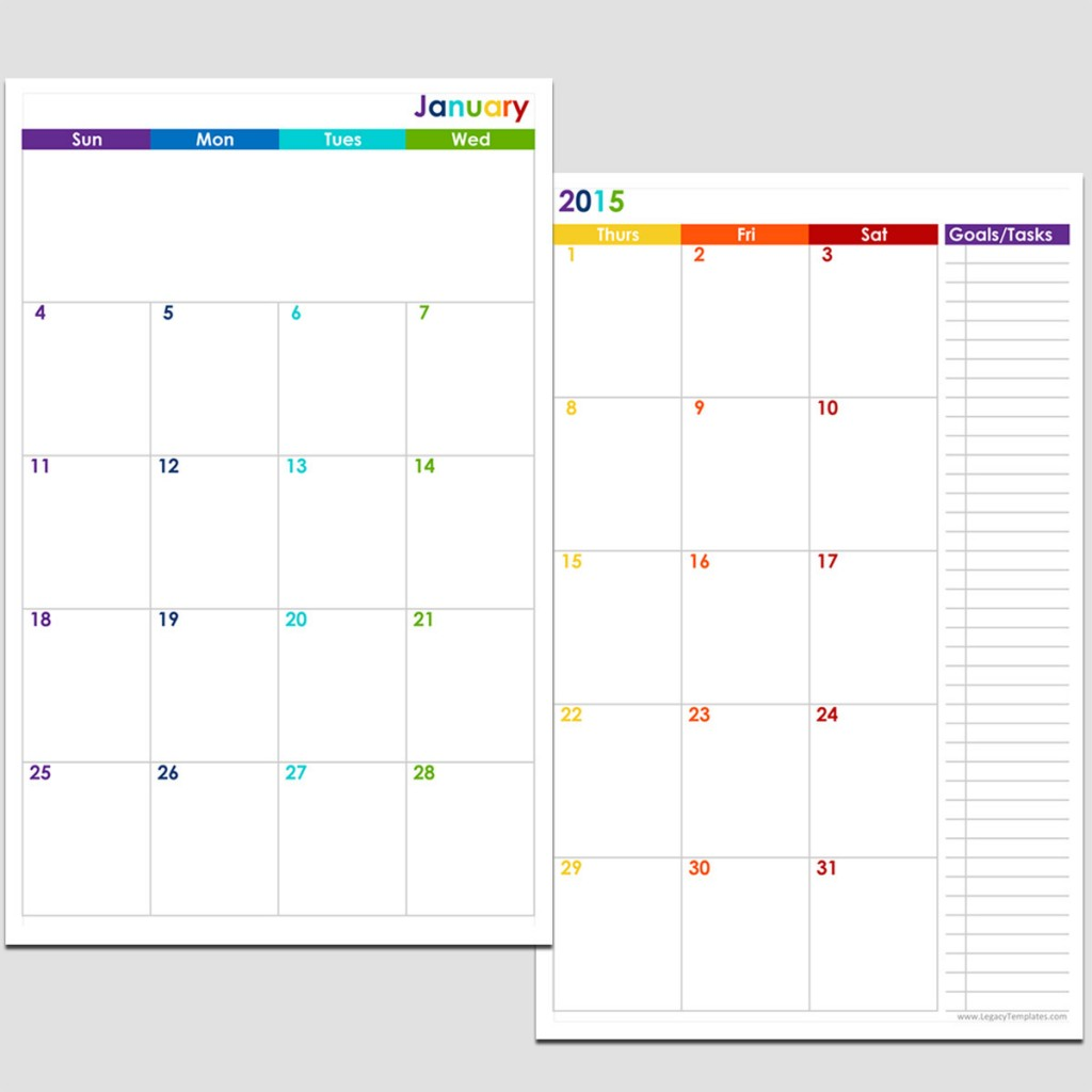 2 page weekly calendar template - 7 best images of 2016 printable calendar templates 8 12 x