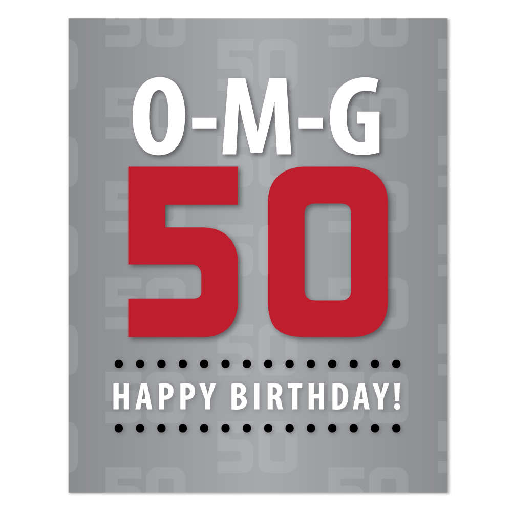Terrible image within printable 50th birthday signs