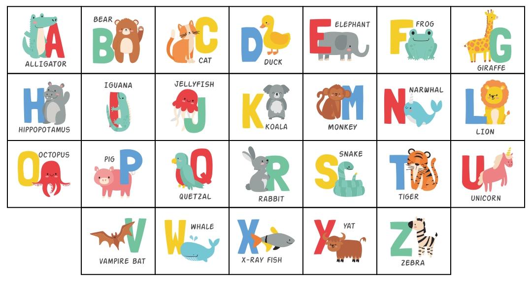 Printable Alphabet Games for Preschool