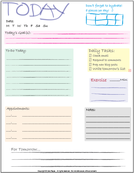 9 Best Images of Daily Checklist Printable - Printable ...