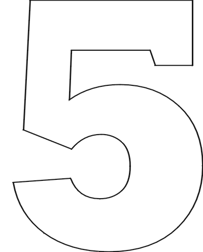 7 Images of Printable Bubble Number 5 Outline