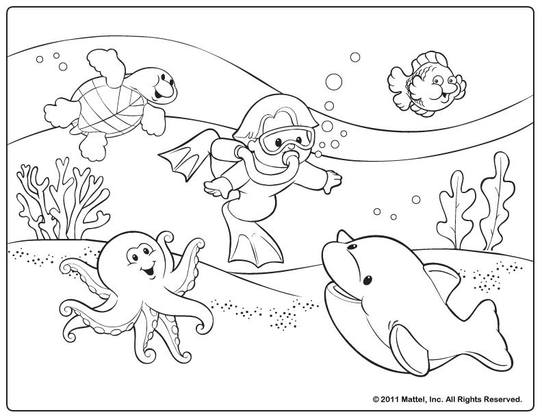 5 Images of Free Printable Summer Coloring Pages