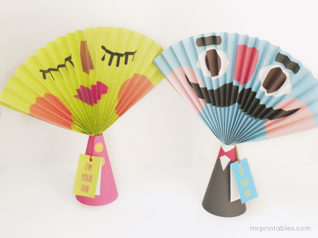 Printable Summer Paper Fans Craft