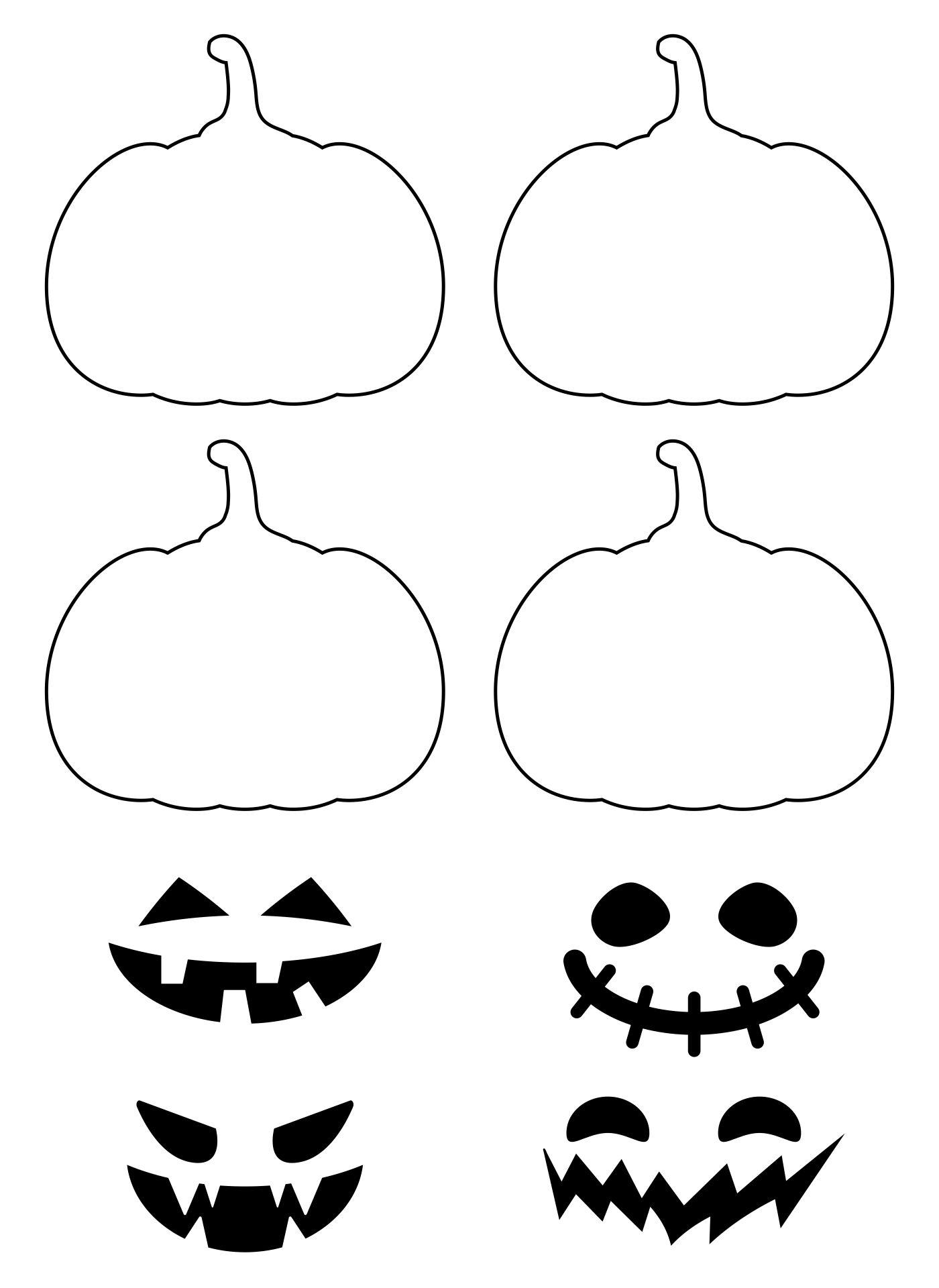 Pumpkin Cutouts Printable Free