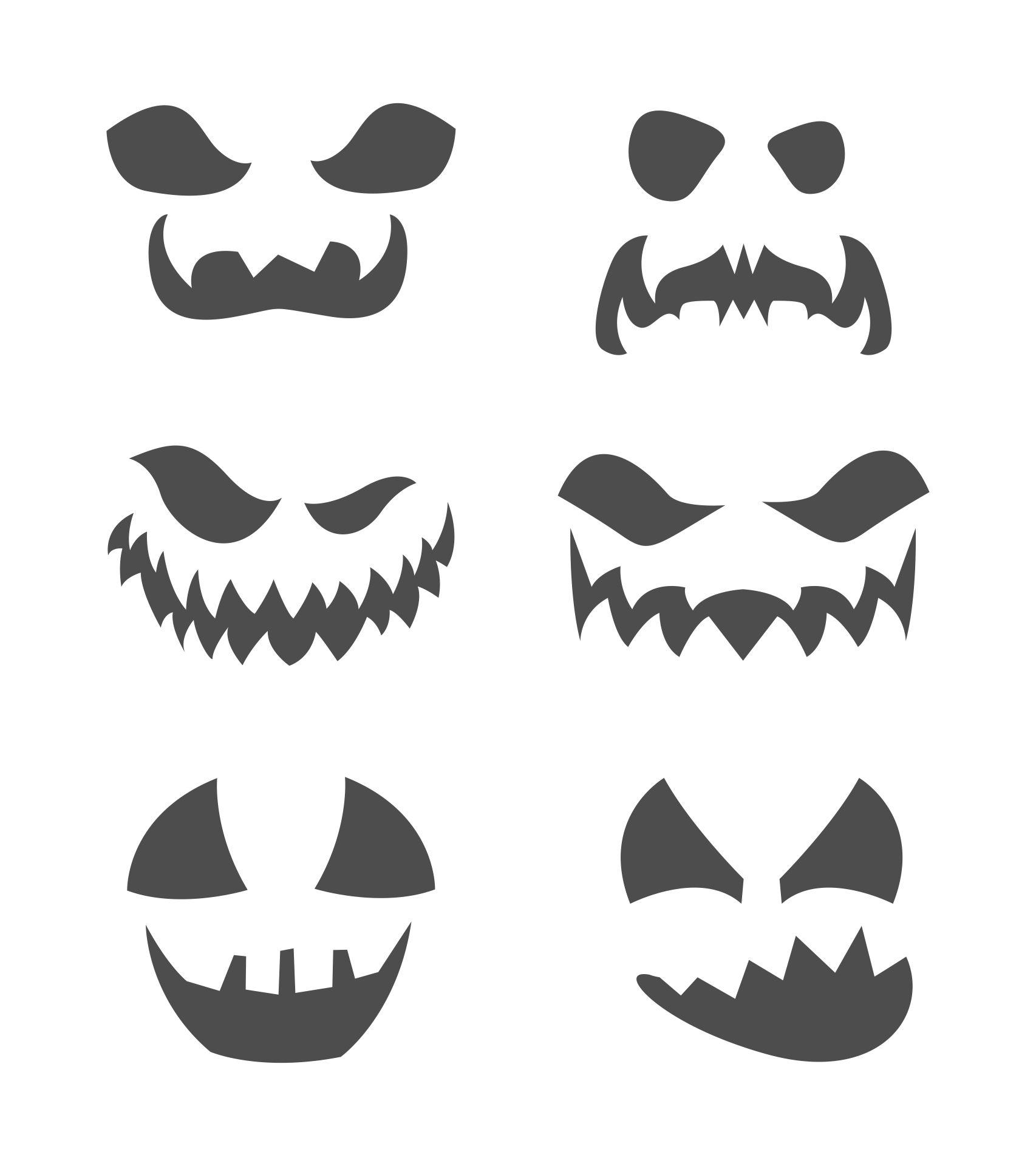 Pumpkin Face Template Printable