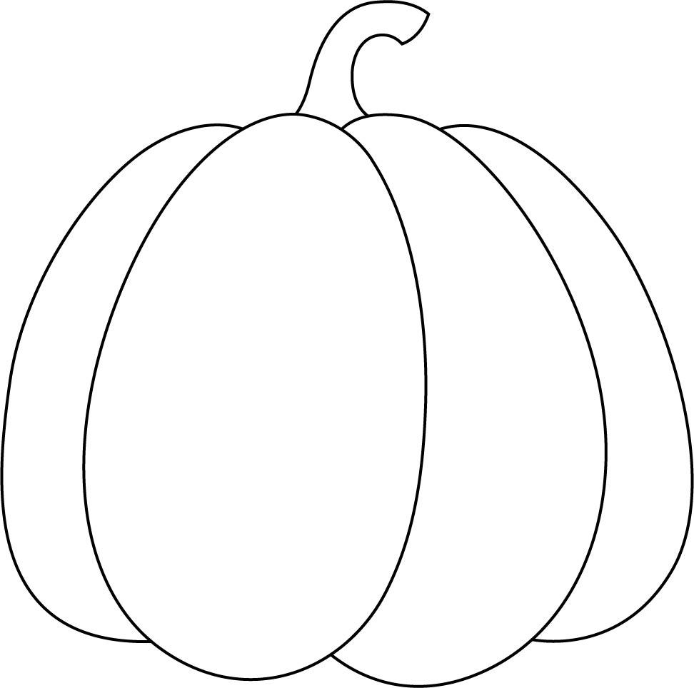 Pumpkin Outline Template