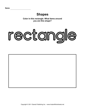 4 Images of Rectangle Shape Worksheets Printable