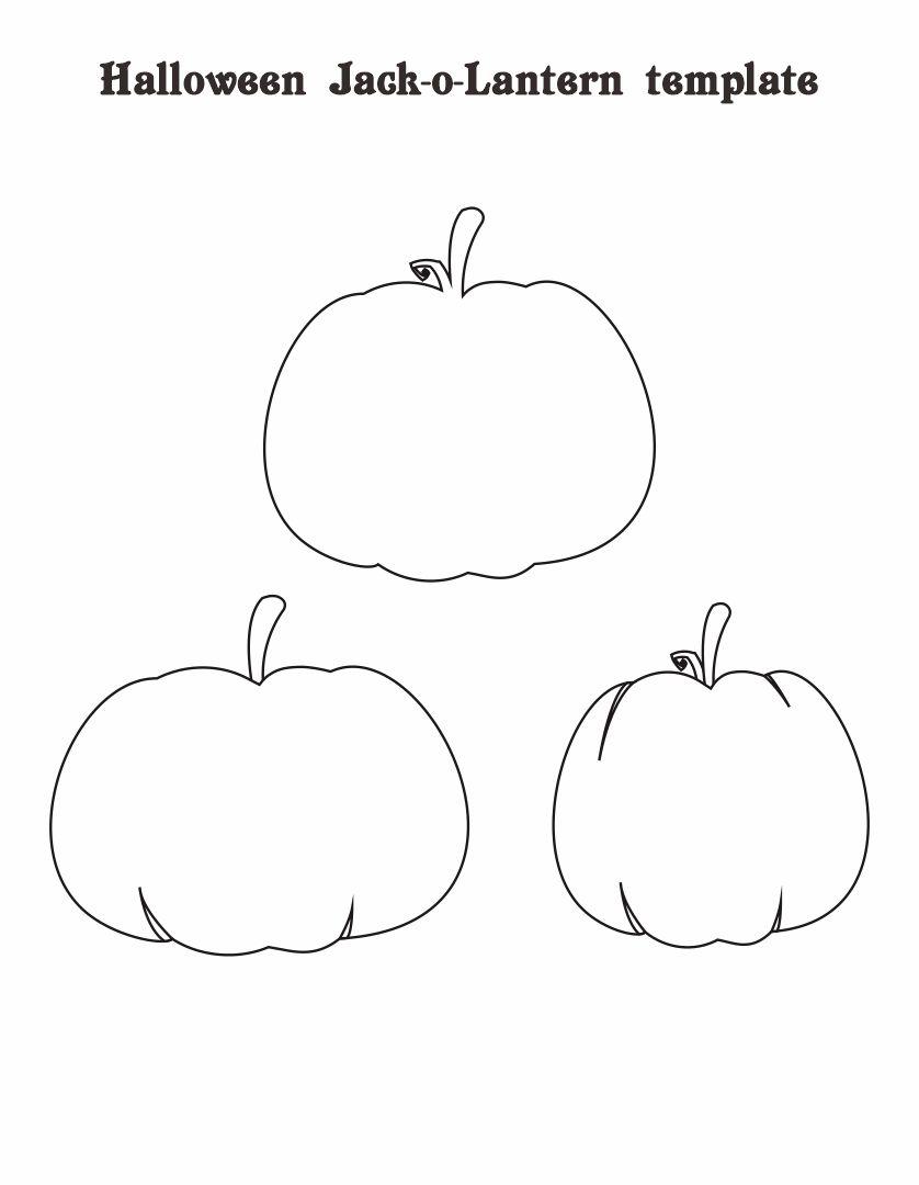 Small Halloween Pumpkin Templates