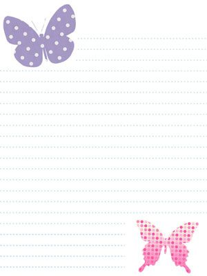 Spring Stationery Printable