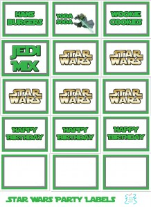 6 Images of Star Wars Yoda Soda Printable Food Labels