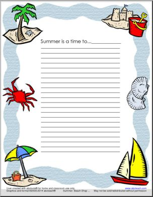 Summer Writing Prompt Printable