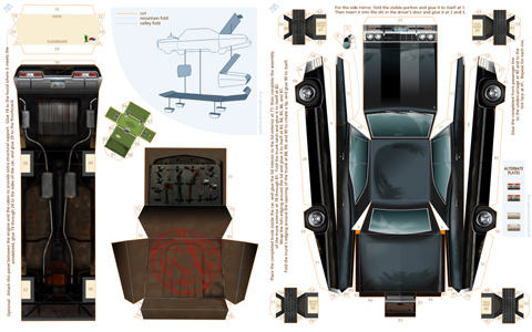 4 Images of Printable Paper Toys Car Impala