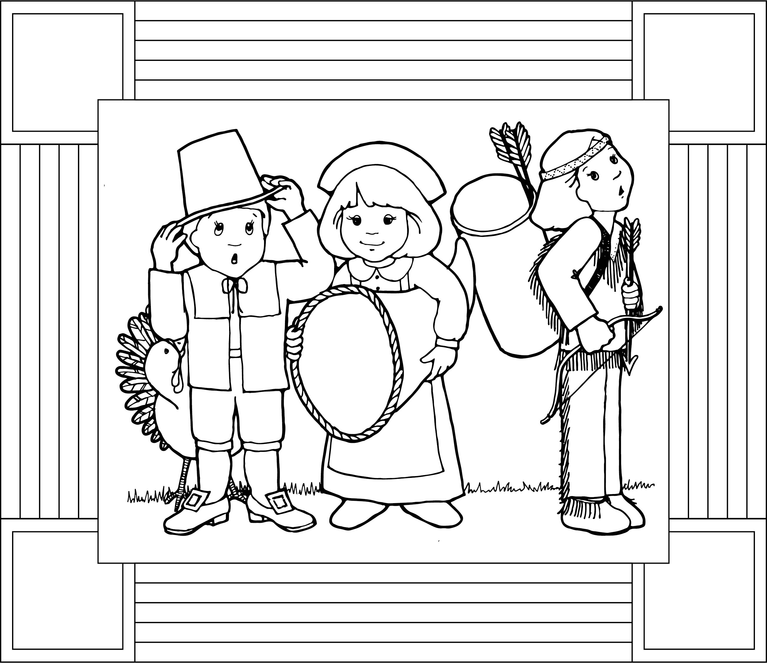 Thanksgiving Placemats Coloring Pages