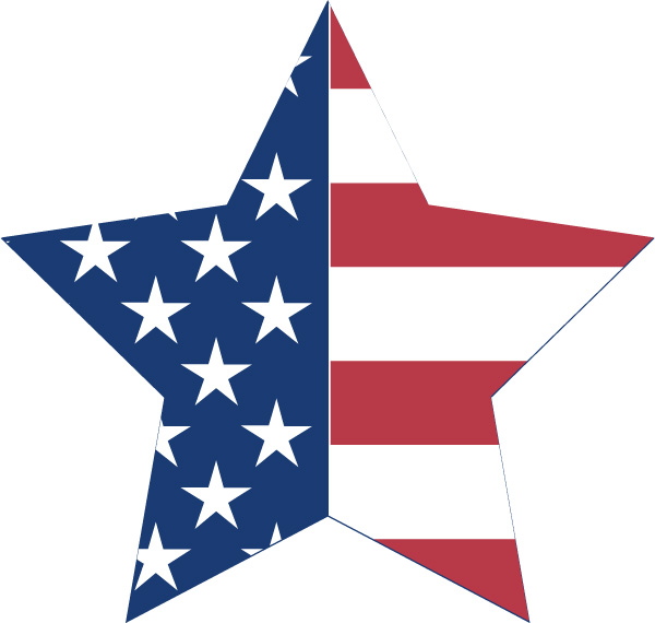 4 Images of American Flag Stars Printables