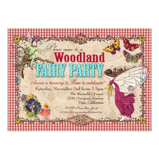 8 Images of Woodland Fairy Invitation Printable Free