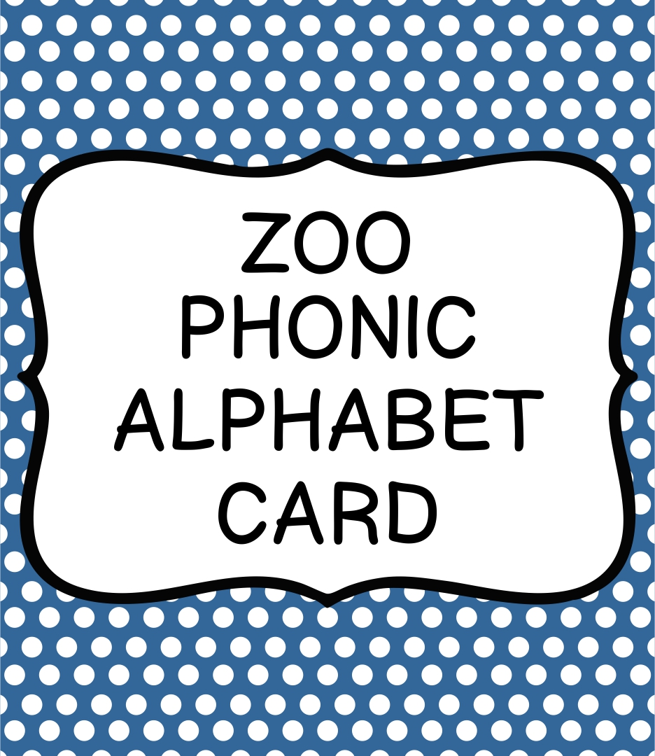 Zoo-phonics Alphabet Cards