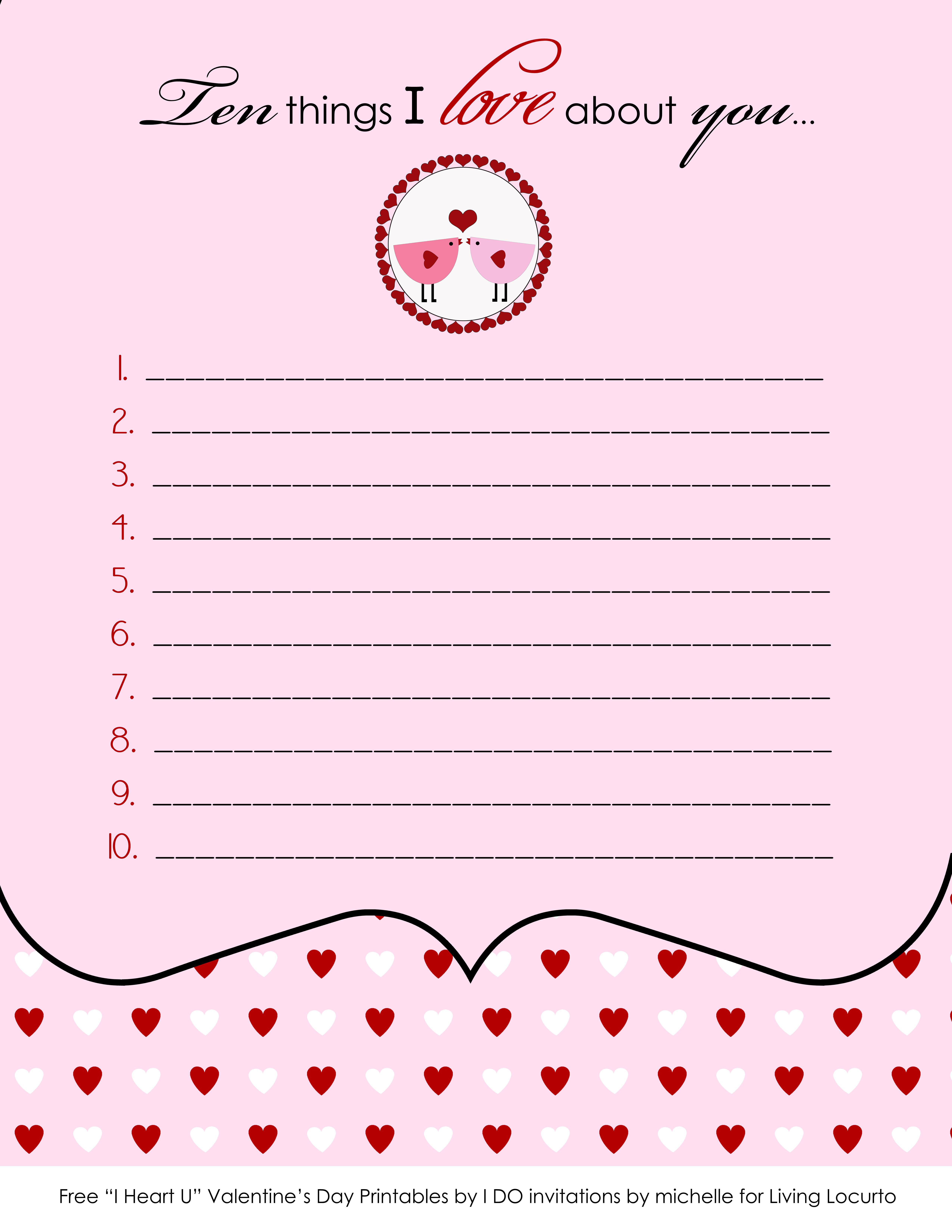9 best images of free valentine printable note paper