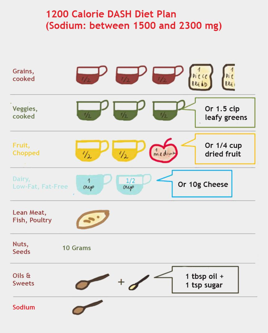 1200 Calorie Dash Diet Plan