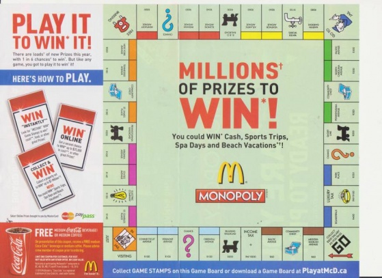 7 Images of Printable McDonald's Monopoly Board