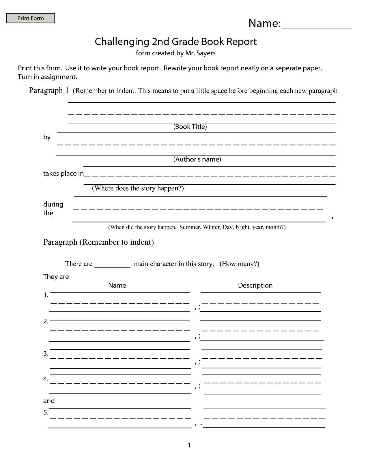 Worksheet Free Printable Books For 2nd Grade do book reports 1st grade report forms free printable for st nd nd