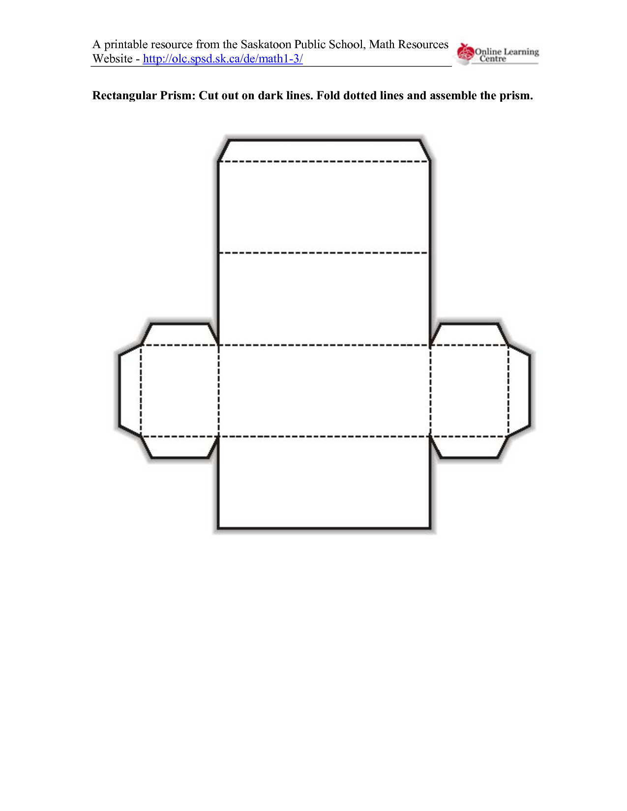 5 Images of Printable 3D Shapes Cut Out Template