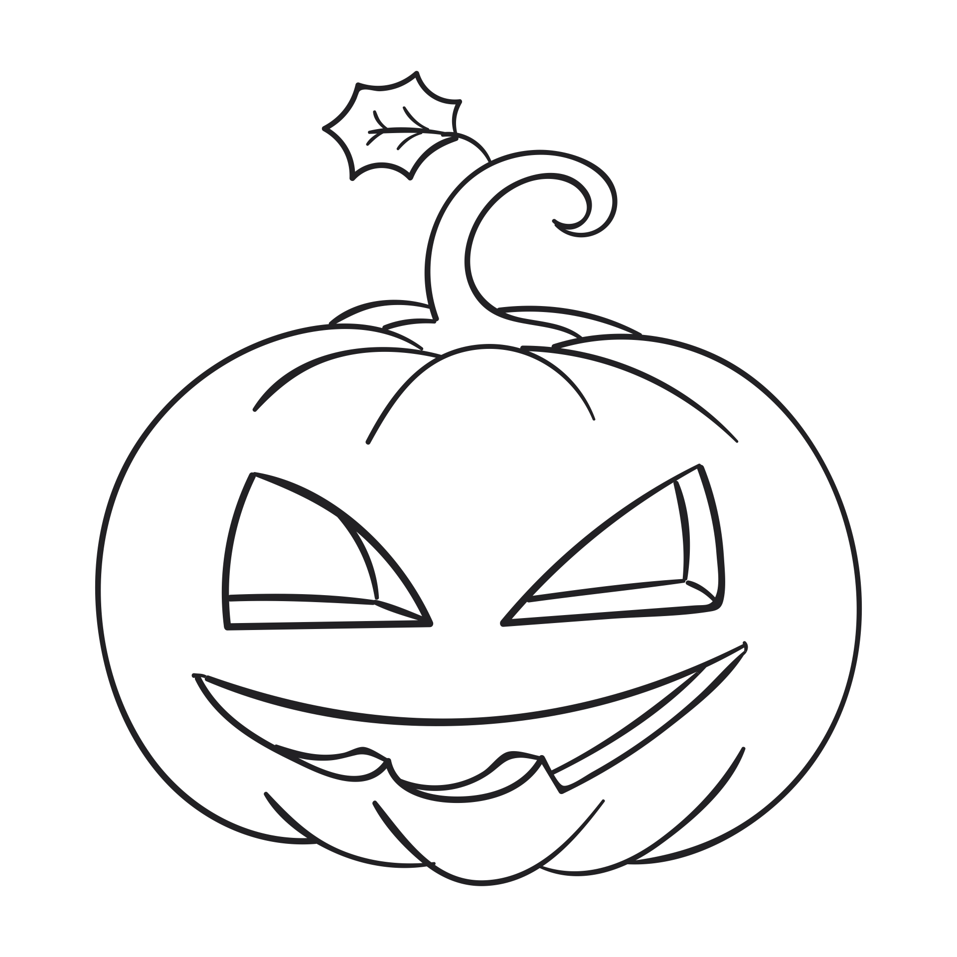 Black and White Pumpkin Coloring Pages