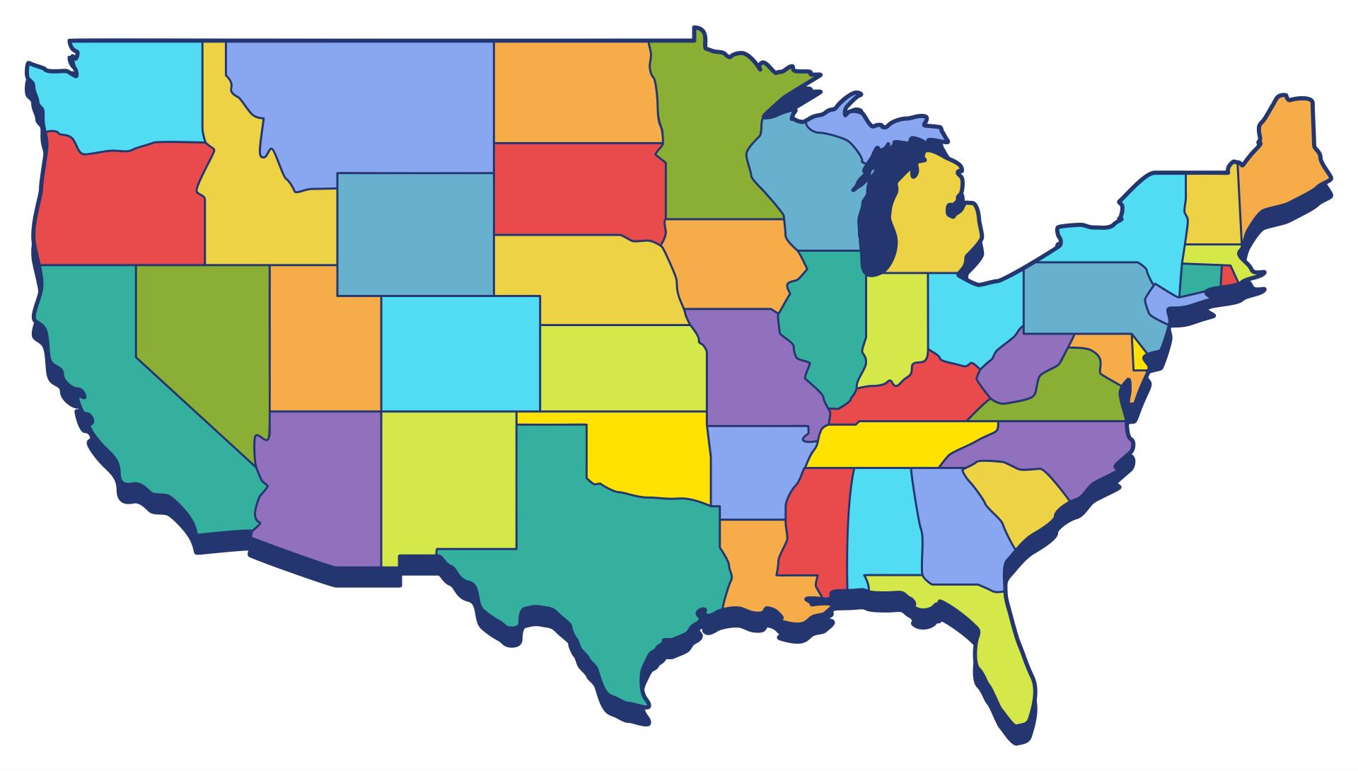 Blank 50 States Map