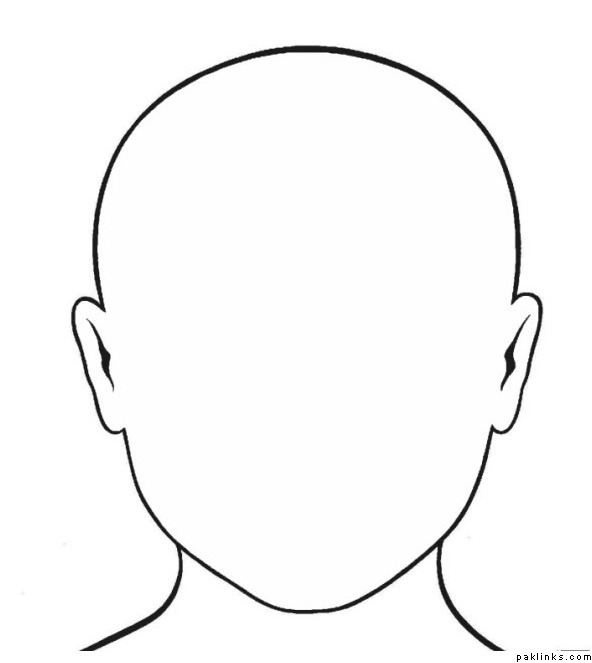5 Images of Human Face Template Printable