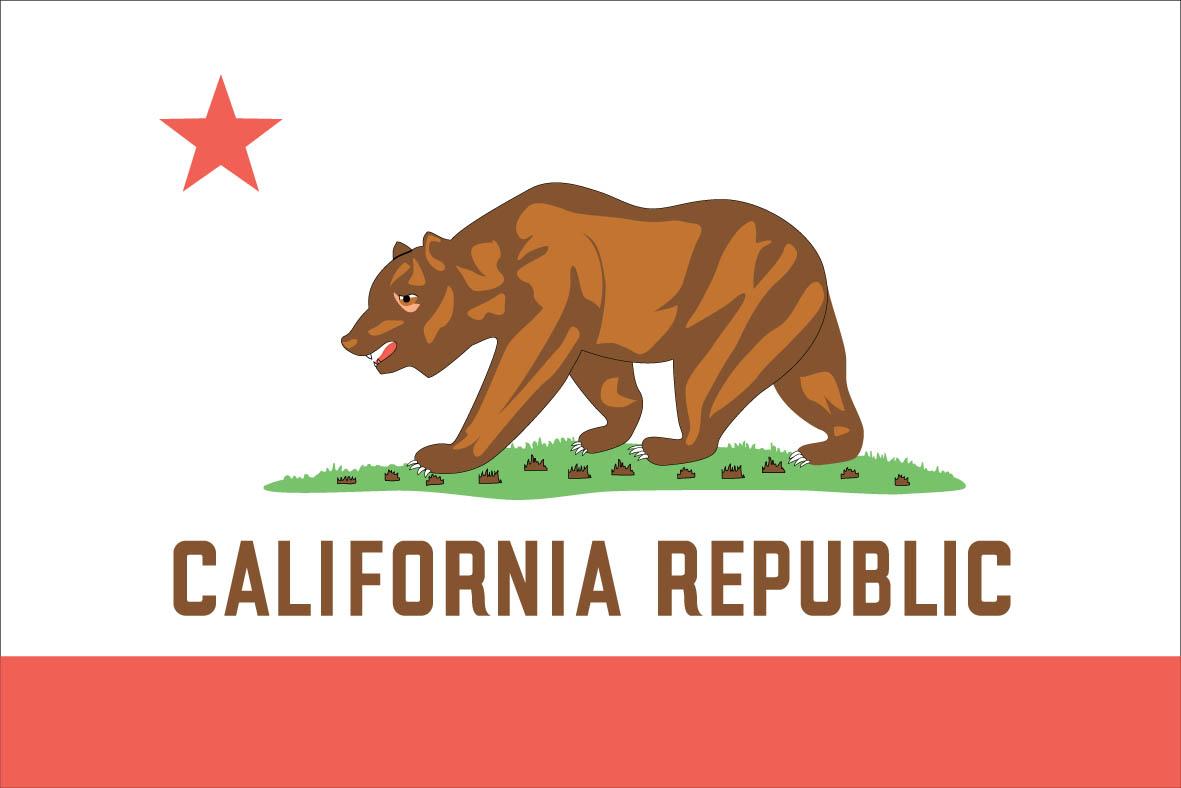 5 Images of California American Flag Printable