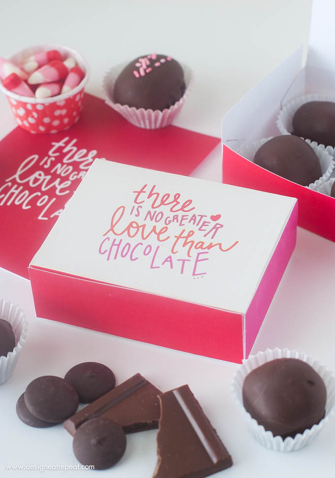 4 Images of DIY Chocolate Valentine Printable