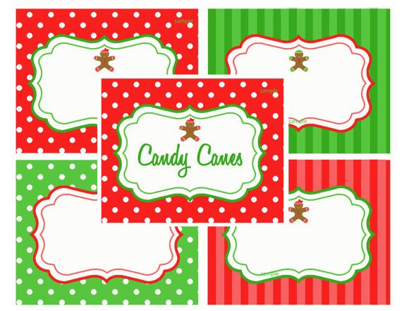 Christmas Food Label Printables