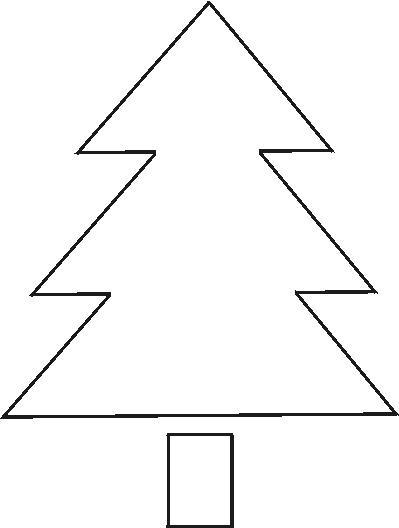 Christmas Tree Stencil to Print