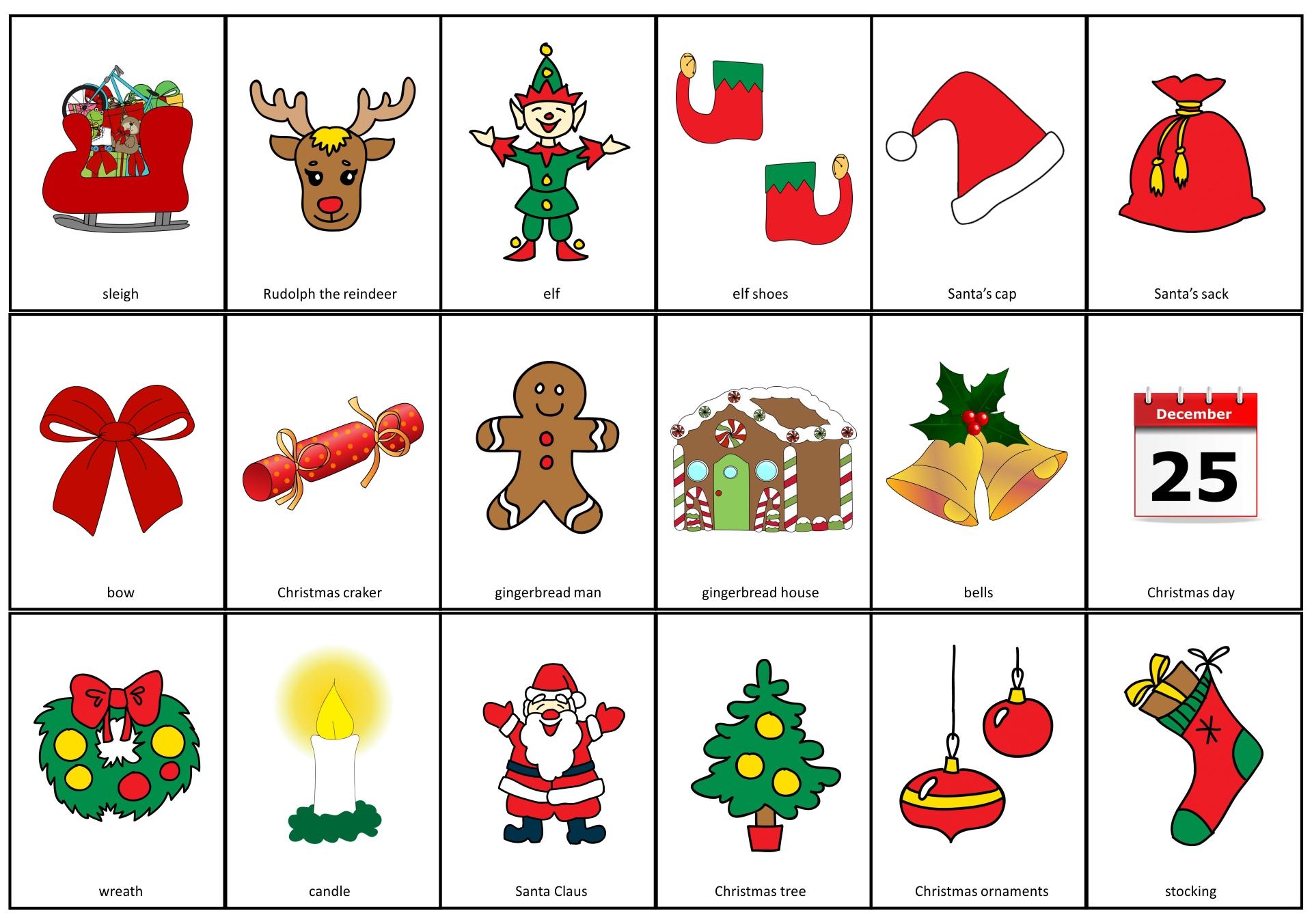 Christmas Vocabulary Worksheets