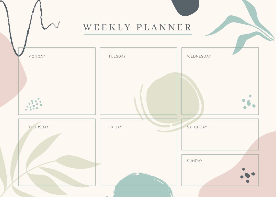 Cute Printable Weekly Calendar