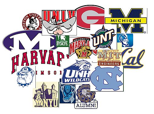 Selective image in printable college logos
